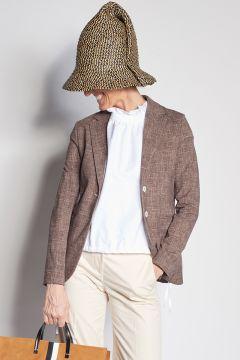 Melange brown cotton jacket