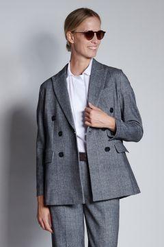 Gray herringbone jacket
