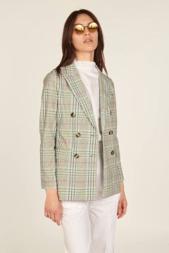 Jersey double-breasted tailored jacket