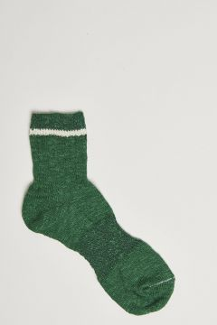 green stocking with white band