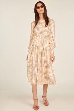 Firenze midi polka dot dress