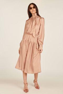 Firenze midi dress with bow