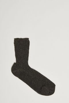 black ribbed lurex sock