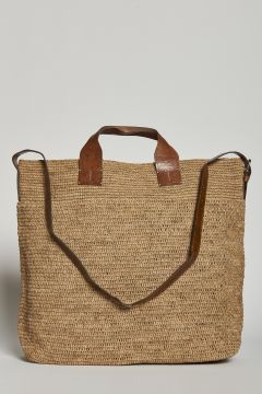 Tea handbag or with raffia shoulder strap