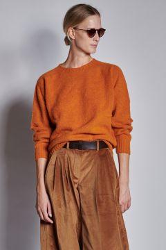 Orange crewneck sweater