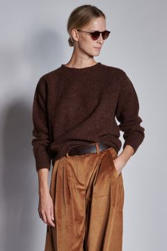 Coffee crewneck sweater