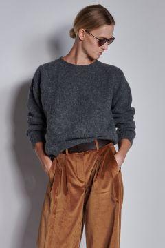 Gray crewneck sweater