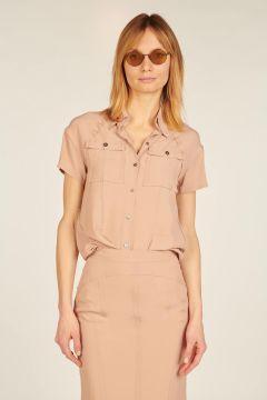 Fluid short-sleeved shirt