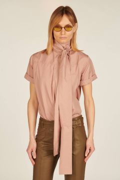 Powder Pink Shirt with scarf
