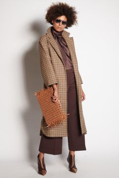 Cappotto lana pied de puole