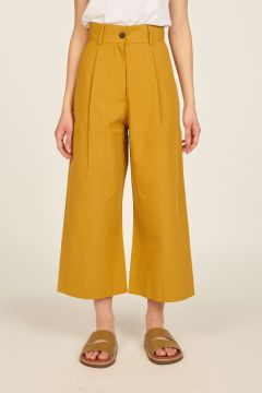 Tobacco cropped trousers