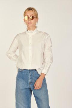 Greta frilled collar blouse
