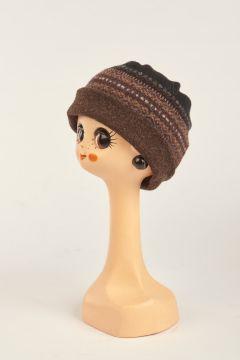 Patterned black hat