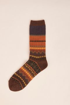 Dark brown english wtyle wool socks
