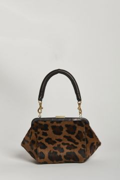 leopard printed mini bag