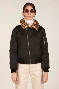 Black Hello bomber jacket