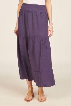 Long violet skirt