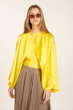 Yellow Sunny satin jacket