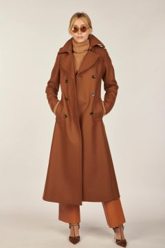 Brown burnt trench