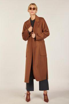 Brown burnt trench coat