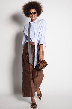 Brown velvet trousers