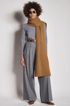Sciarpa a maglia cammello
