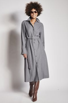 Gray flannel dress