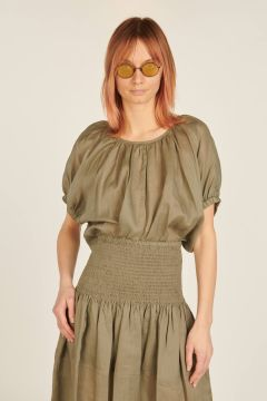 Baidy top with puffed sleeves