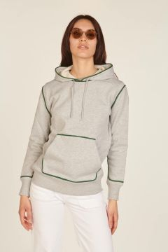 Gray and green Johnny sweatshirt