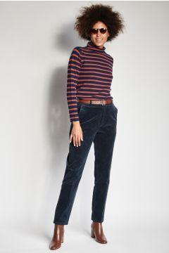 Pantaloni blu in velluto skinny