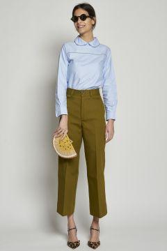 Pantaloni verdi in cotone