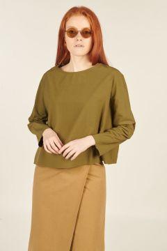 Green Kimono Long-sleeved Shirt