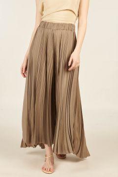 Pleated Cupro Skirt-pants