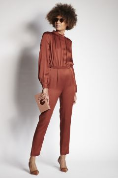 Brick-colored jumpsuit
