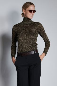 Lurex ribbed sweater