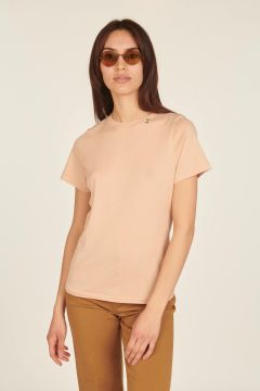 T-Shirt a maniche corte cipria