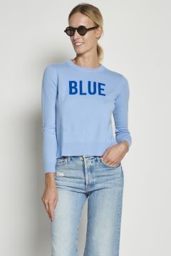 Blue cashmere wool sweater