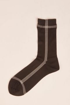 Black socks with side line