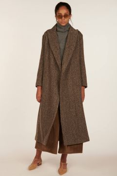 Over coat taupe