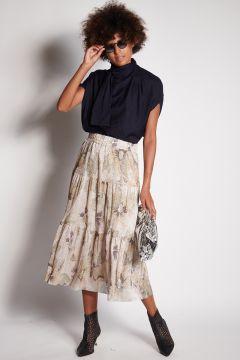 Soft skirt with lurex details