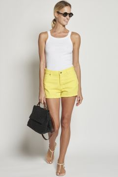 Yellow jeans trousers