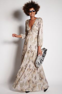 Long dress with lurex details