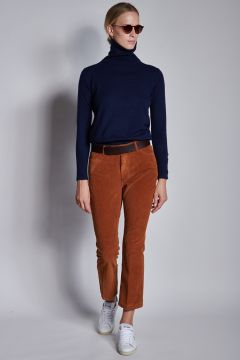 Bronze corduroy trousers