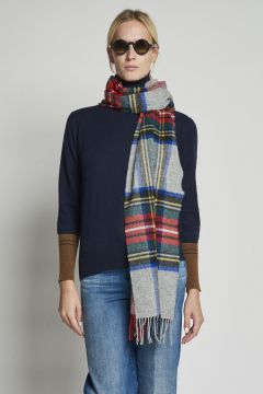 tartan gray scarf
