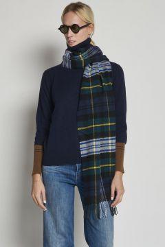 tartan green scarf