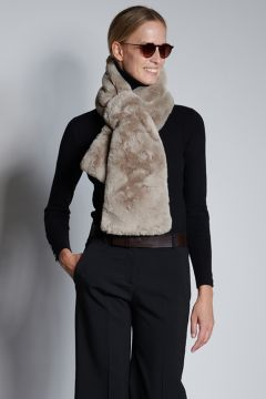Turtledove faux fur stole