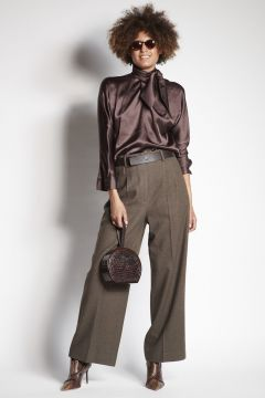 Brown wool trousers
