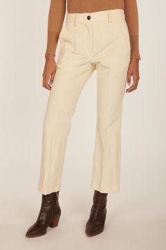 Pantalone bianco in velluto rocciatore Indra