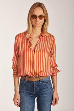 Camicia Bione a righe in seta