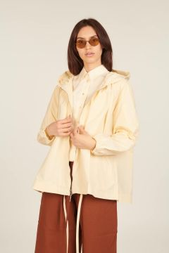 Ivory oversized cotton jacket